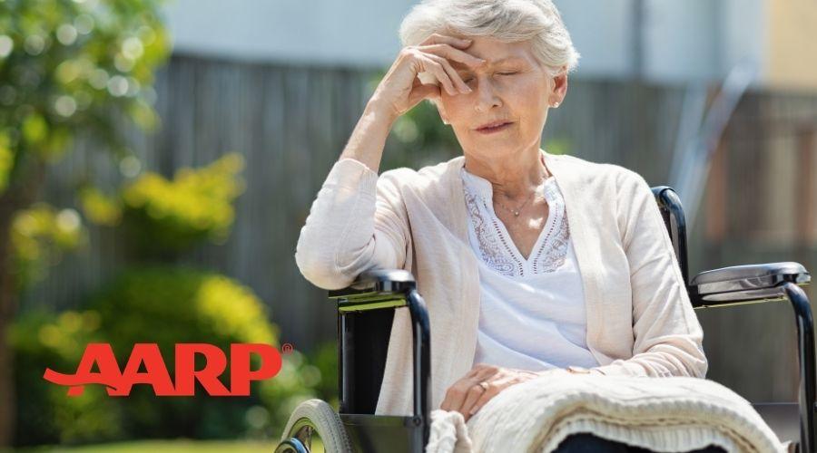 Frail Older Woman in a Wheelchair