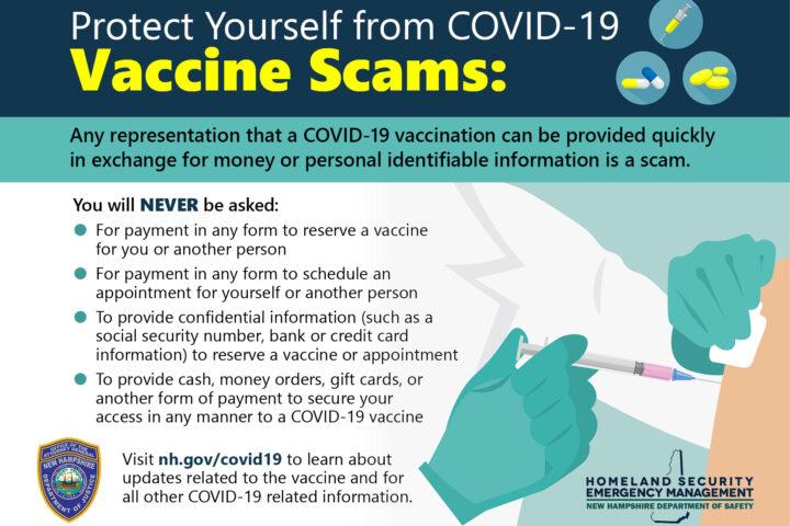 COVID19 Vaccine Scams