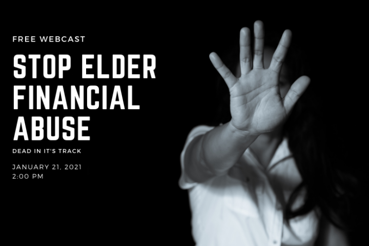 STOP FINANCIAL ELDER ABUSE