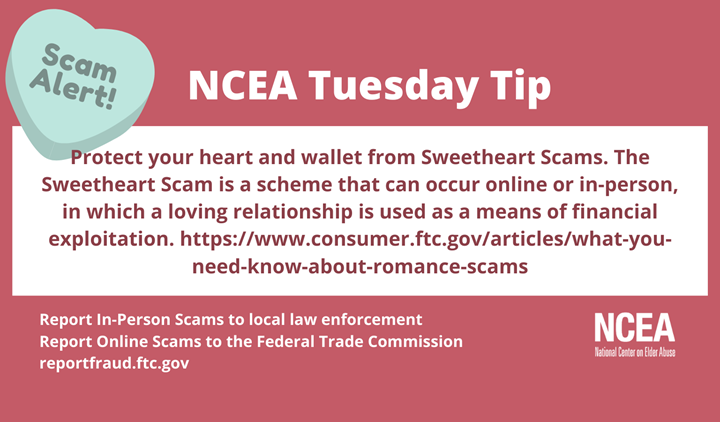 NCEA Tuesday Tip for Romance Scams