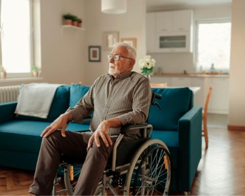 Elder Gentleman in a wheelchair