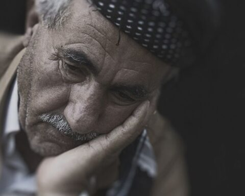 An Elderly Man Who is Sad and Needs Elder Abuse Awareness